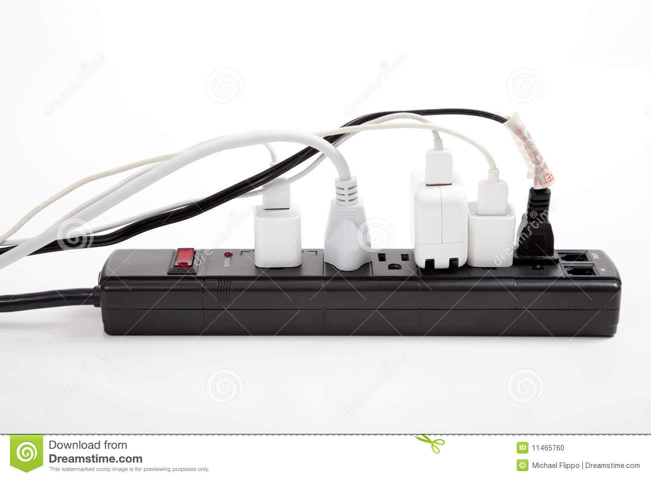 Over loaded surge protector