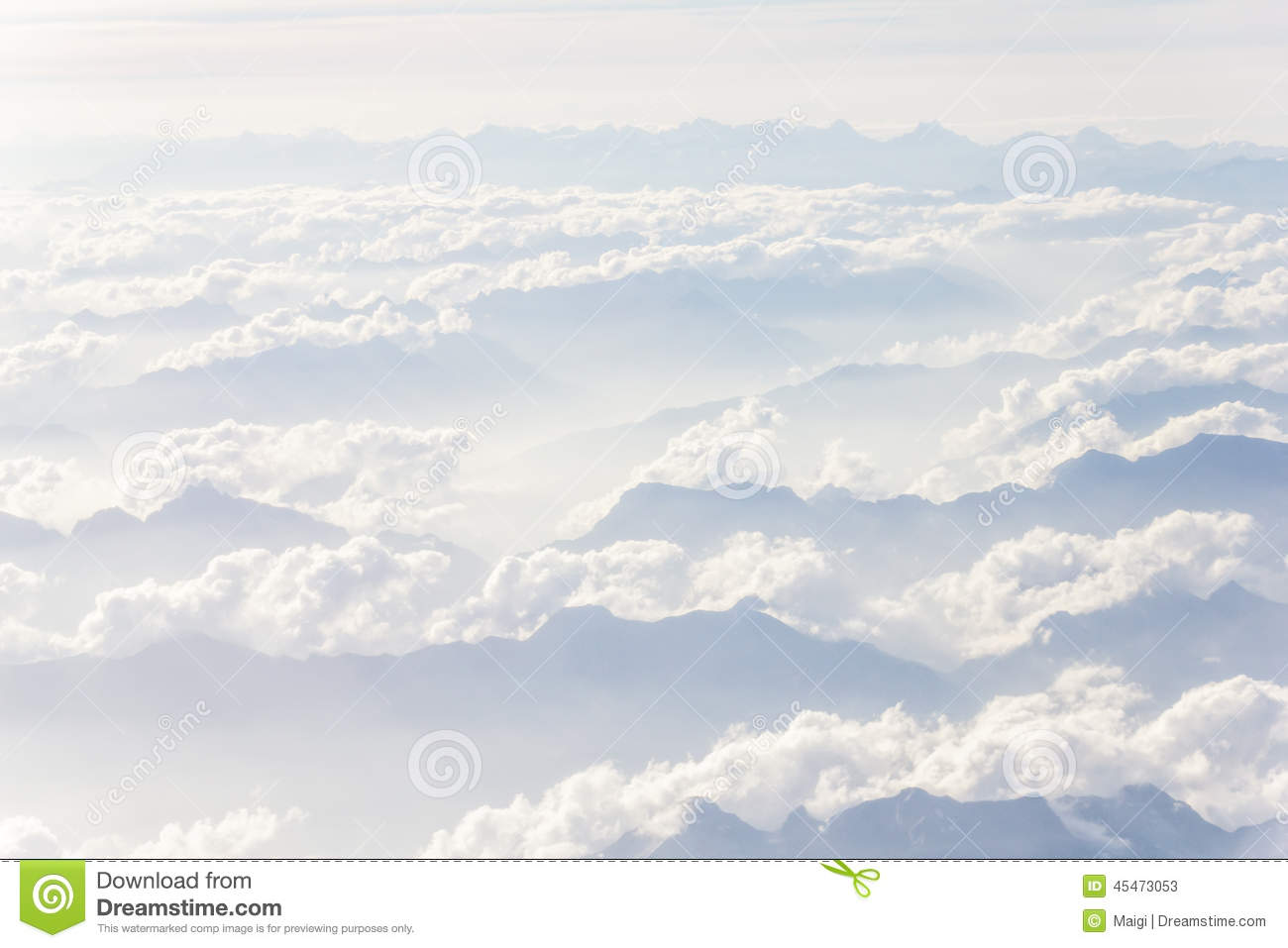 Download Over The Mountains stock image. Image of tops, cloudscape - 45473053