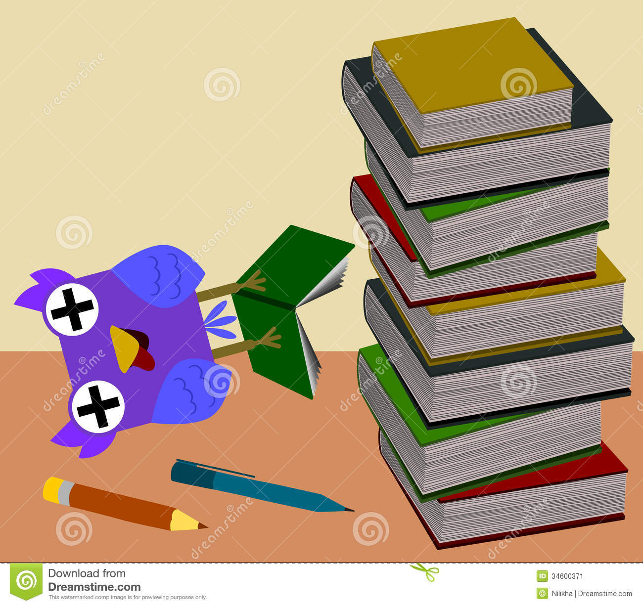 Over Studied Stock Image - Image: 34600371