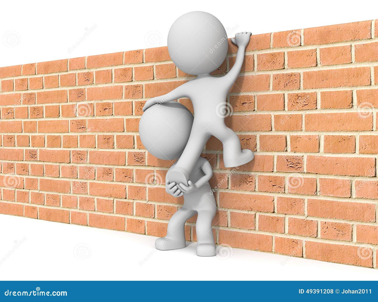 dream dictionary climb brick wall