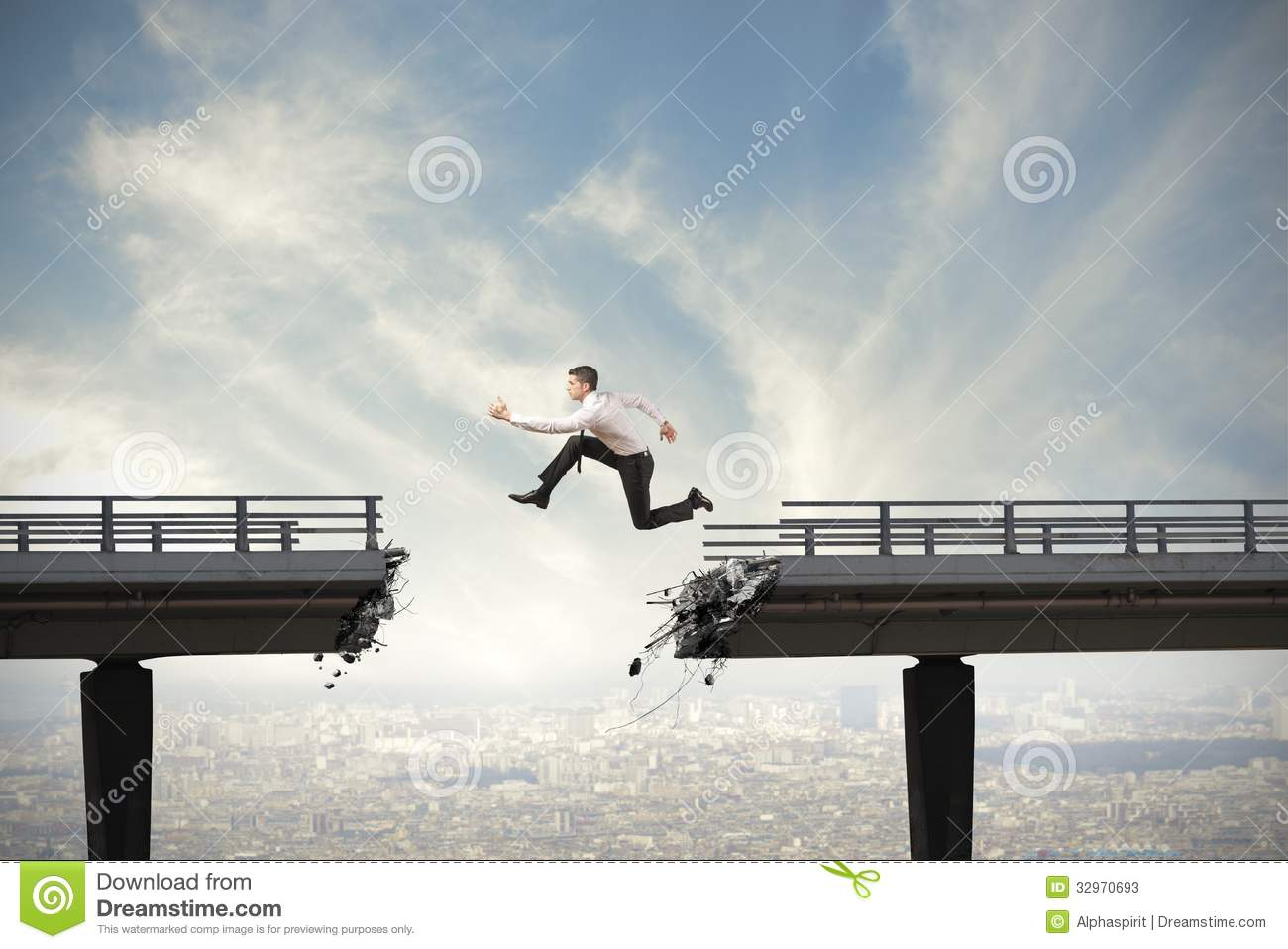 Overcome The Difficulties Stock Photos Image 32970693