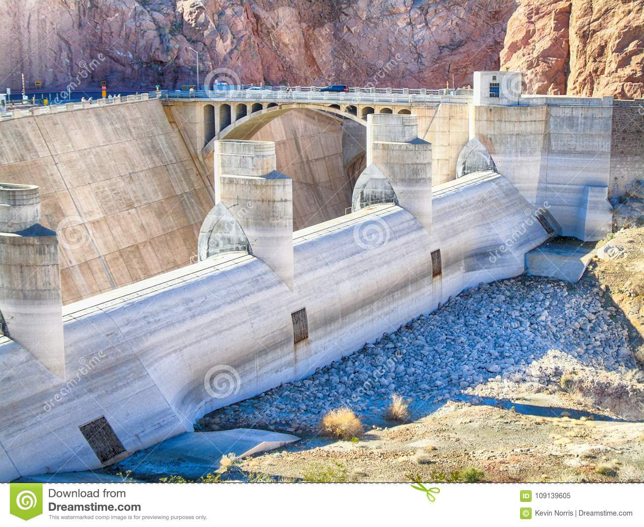 Overflow at Hoover Dam stock image  Image of arizona - 109139605