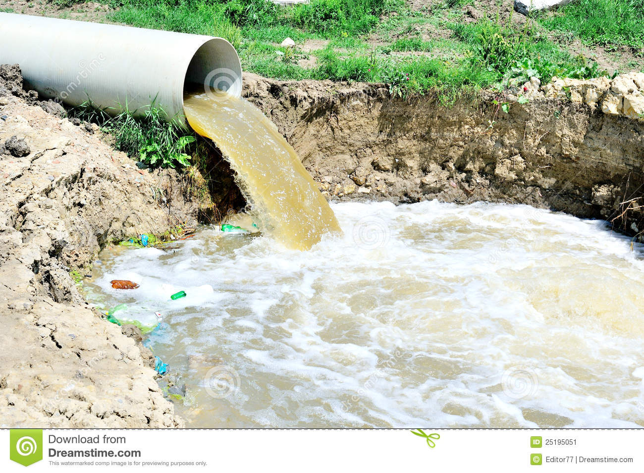 Overflow Of Polluted Water Stock Image Image 25195051
