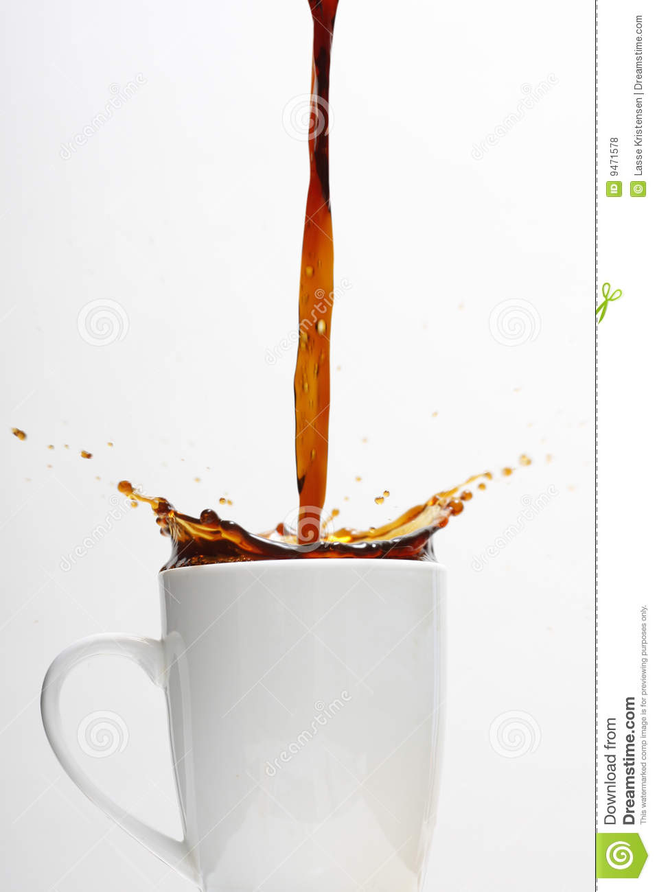 Overflowing coffee cup