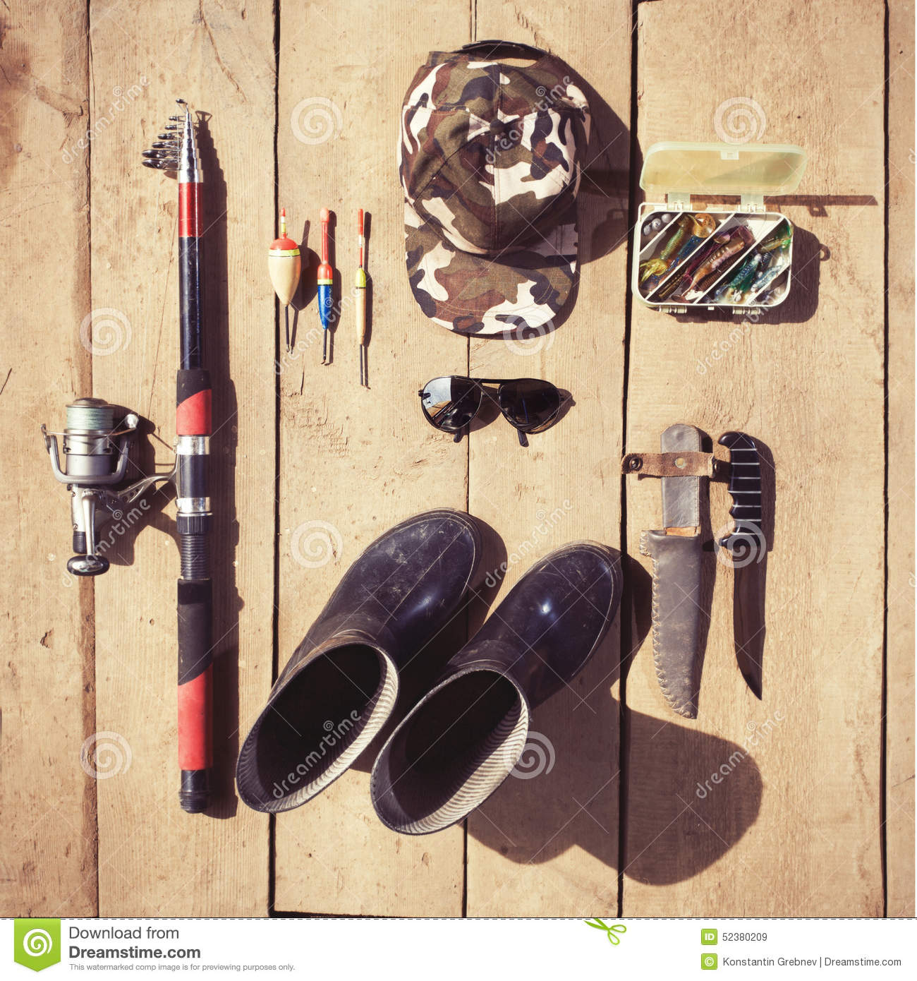 Overhead of essentials for fisherman fshing tackle and for Best fishing gear