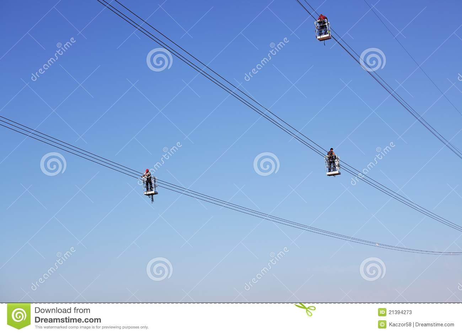 Overhead Power Line Stock Photos Image 21394273