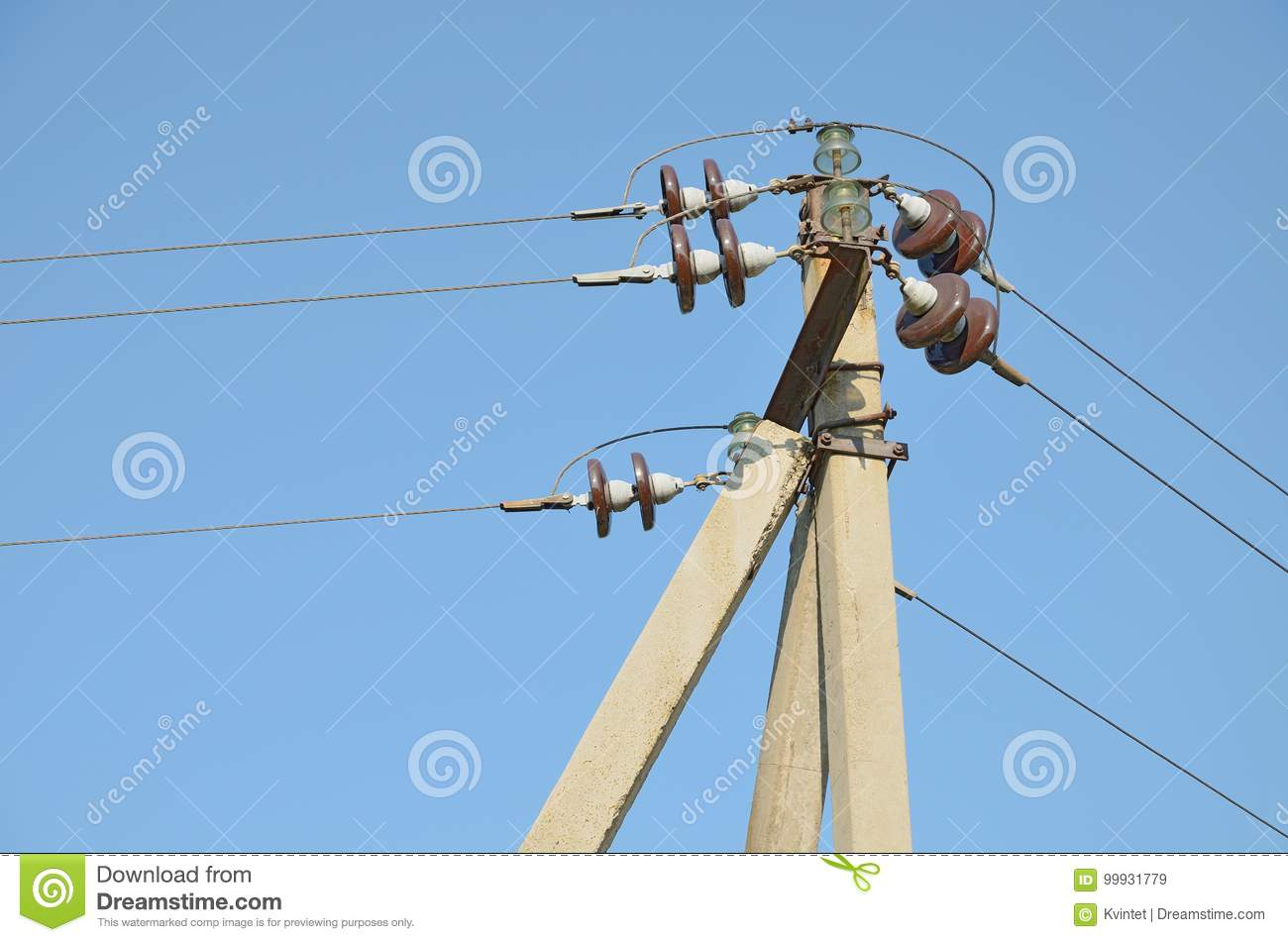 Prime Overhead Power Lines At The Electric Support Stock Image Image Of Wiring Digital Resources Antuskbiperorg