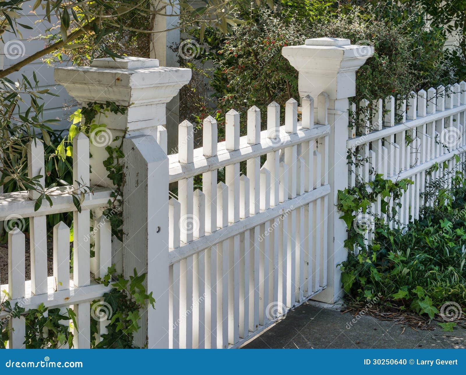 De details van de poort en van de omheining