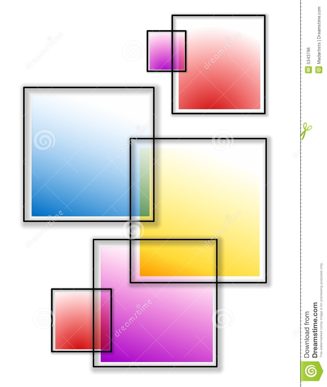 Overlapping Opaque Squares Royalty Free Stock Image - Image: 5343796