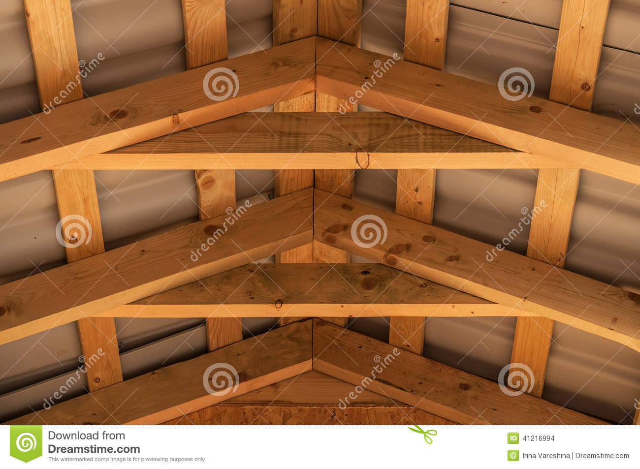 Roof Joist Wood Construction Stock Photo Image 41216994