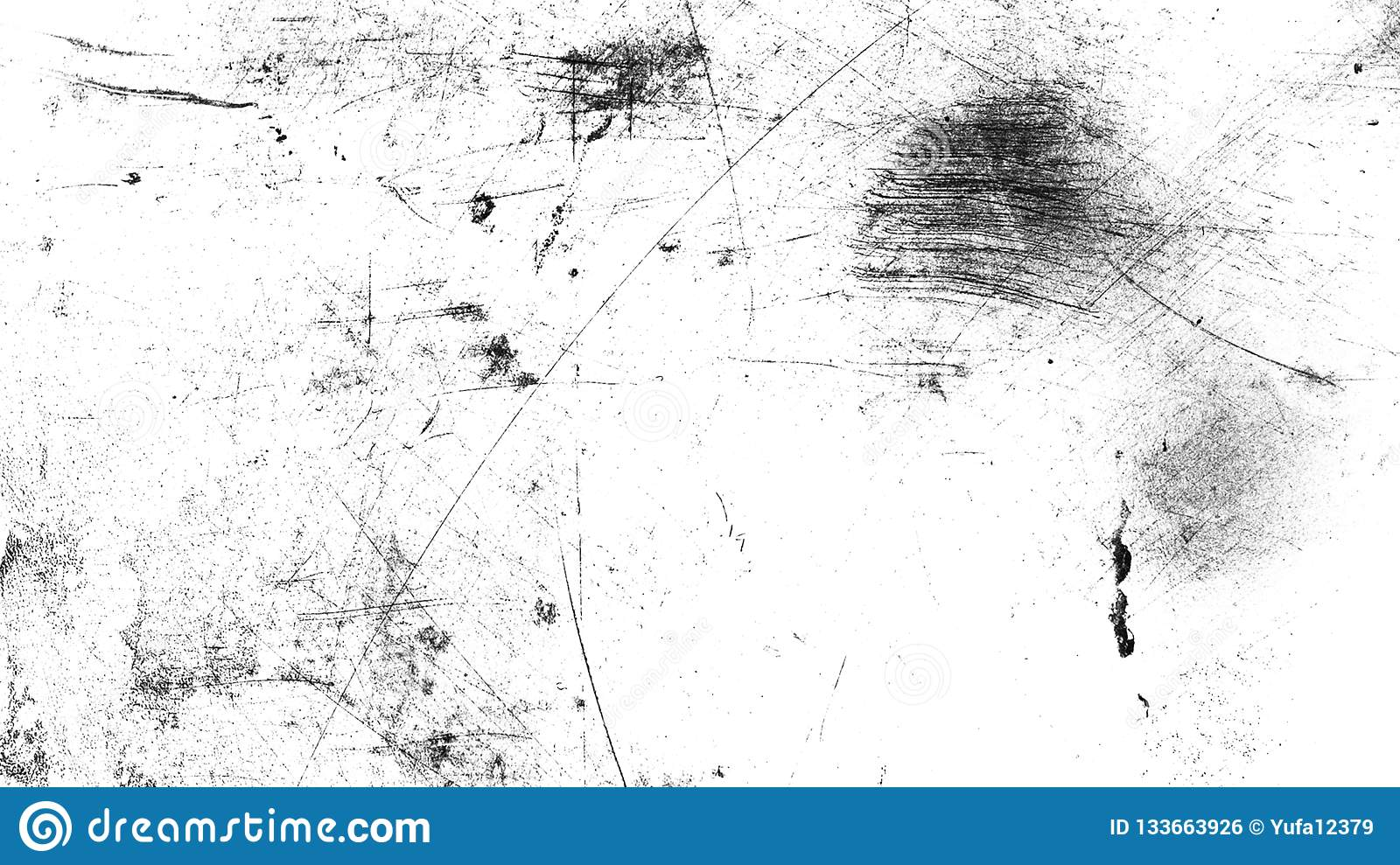 Vintage old dust scratched grunge texture on isolated black backgroundWhite vintage dust scratched background, distressed old text