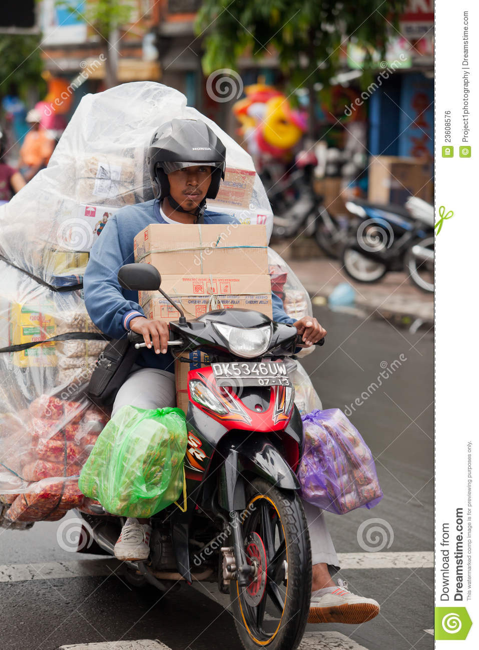 Overloaded Motorcycle Editorial Photo Image 23608576