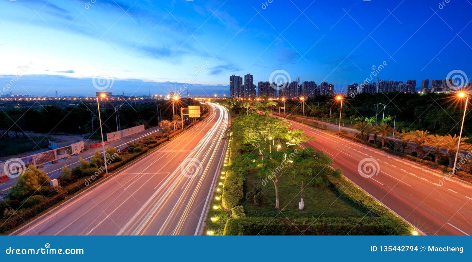 Xiangandadao ave night sight, srgb image