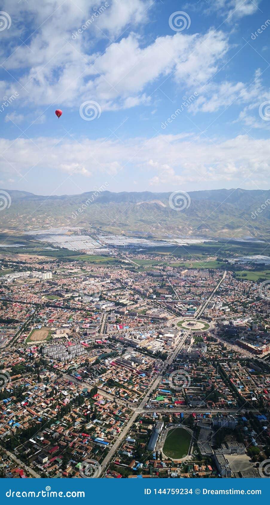 Overlooking gossip city in the air