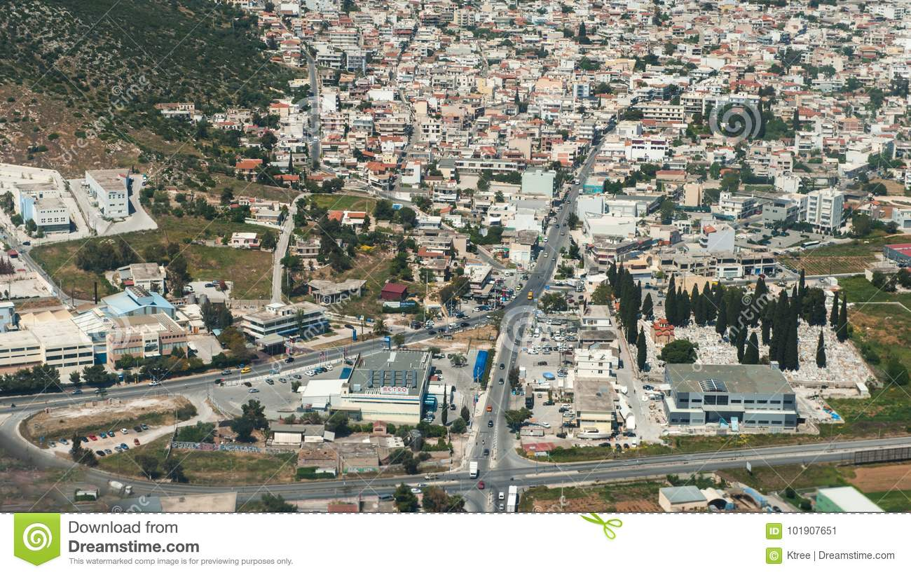 Download Athens Greece Aerial Photography Editorial Photo