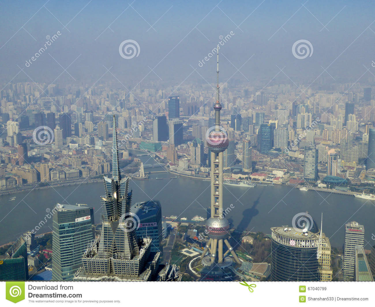 Overlooking Shanghai City Editorial Stock Image Image Of Edifice