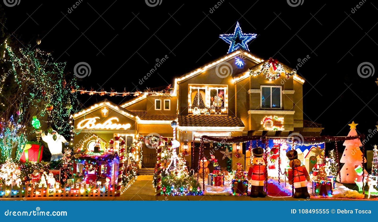 Overlys Christmas Lights.Christmas Lights Stock Image Image Of Holiday December
