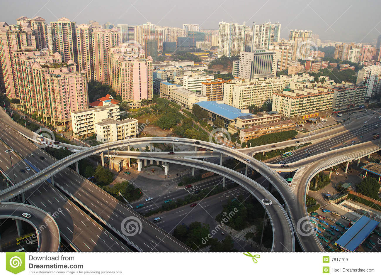 Overpass in guangzhou city