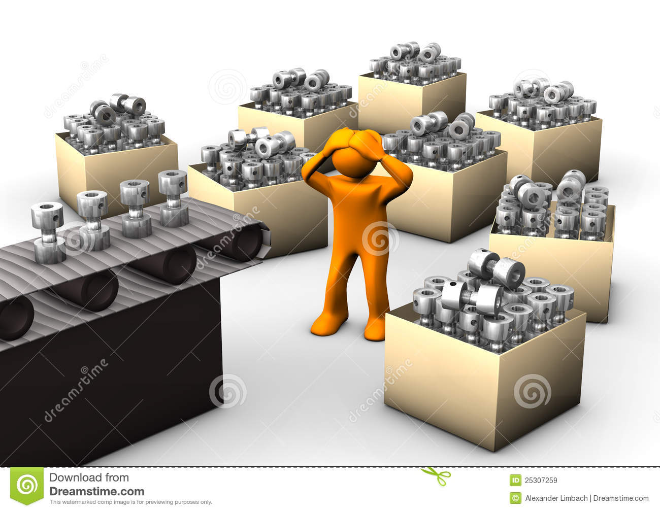 Example image warehouse plan - Overproduction Royalty Free Stock Images Image 25307259