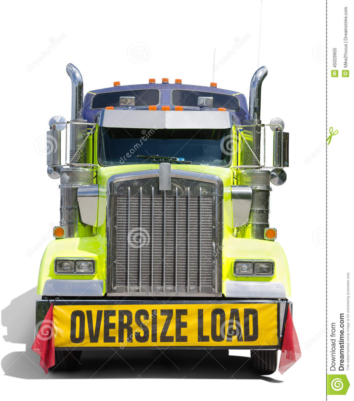 Tractor Front Grill Clip Art : Wide oversize load sign semi tractor truck isolated stock