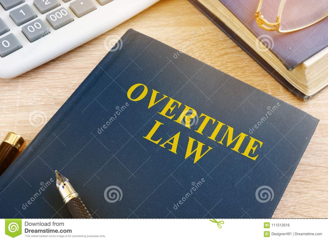 overtime law and calculator stock photo image of productivity