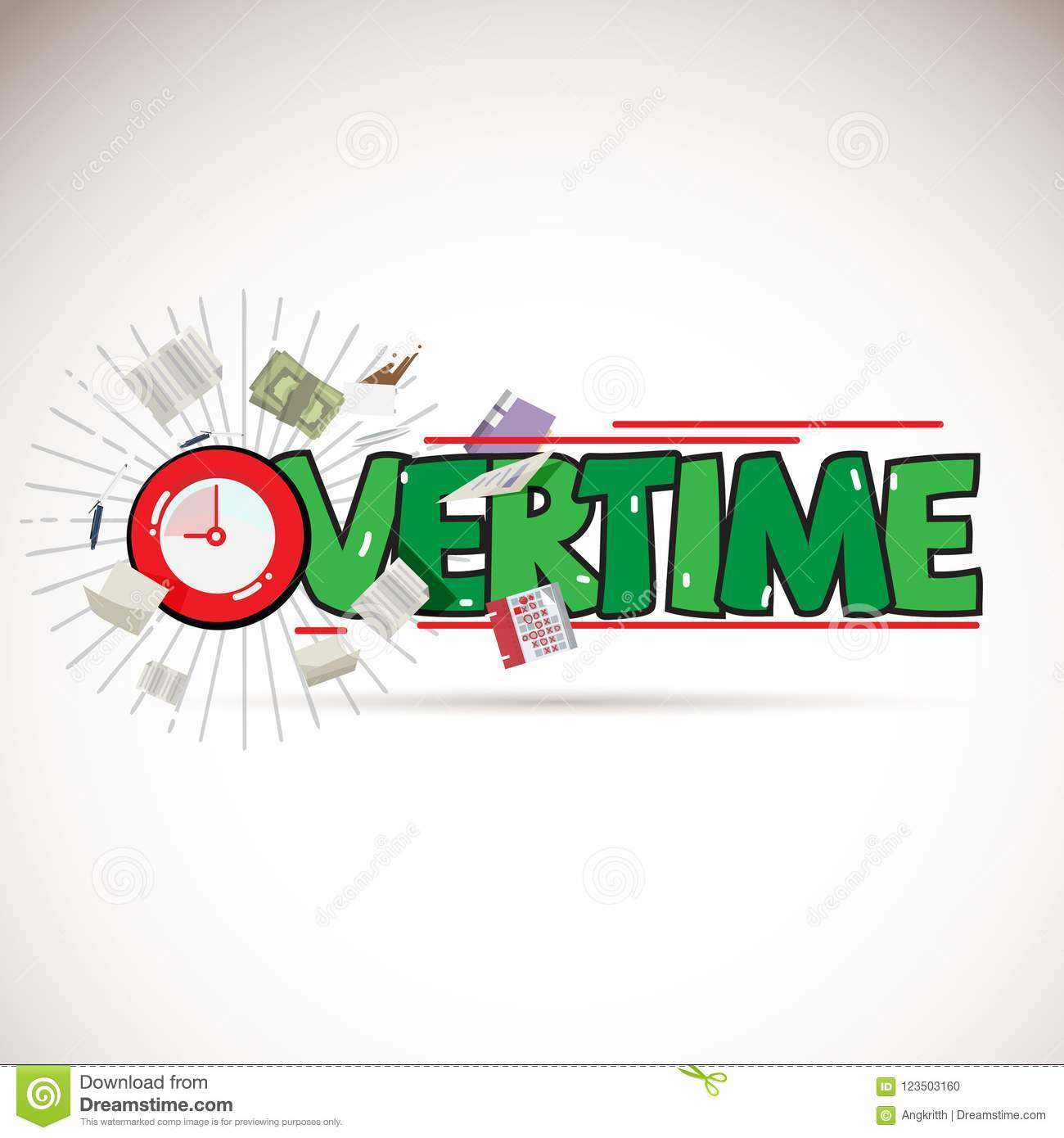download overtime logo concept with working elements vector stock illustration illustration of night