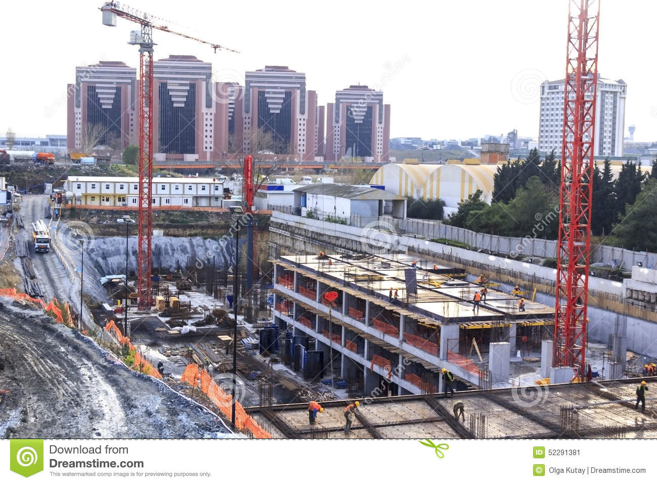 Overview of a construction site