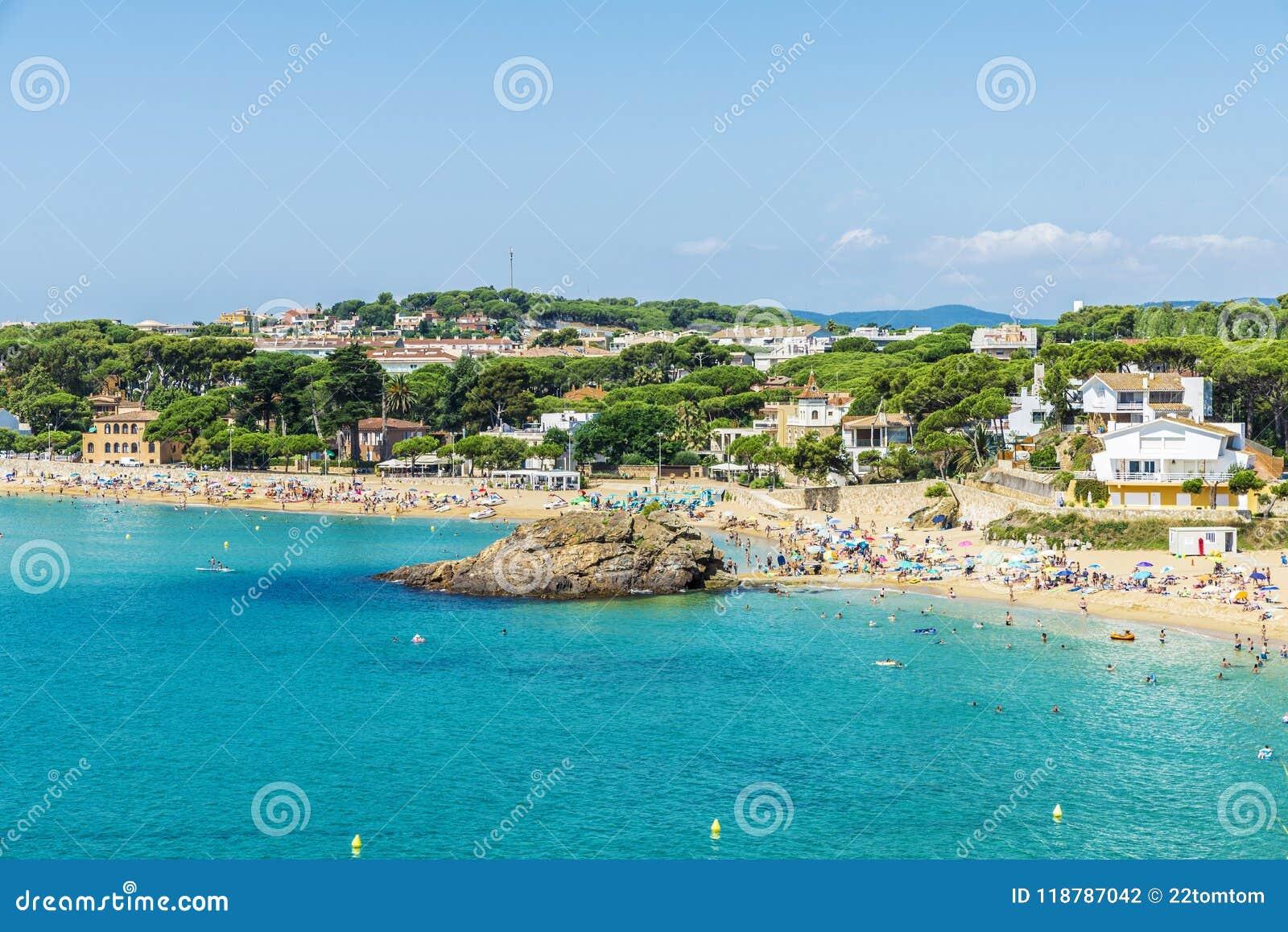 La Fosca Beach Costa Brava Girona Catalonia Spain Stock Photo