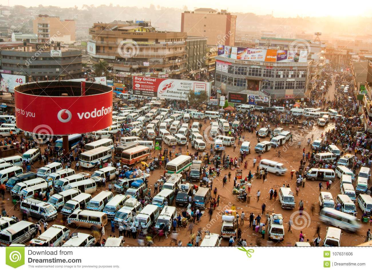 Overview Of Taxi Park Kampala Editorial Photo Image Of Behind