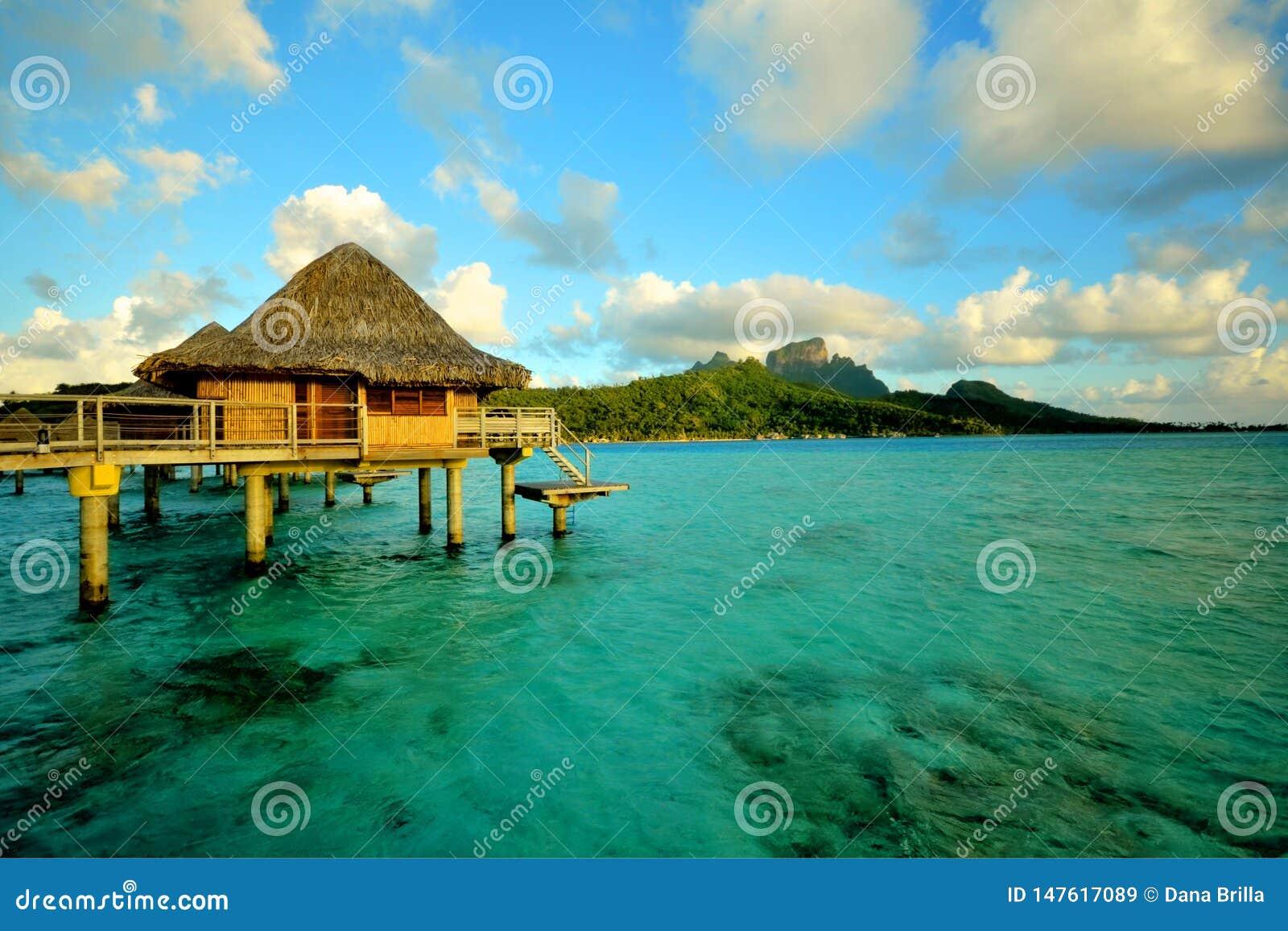 Bora bora over the water bungalow