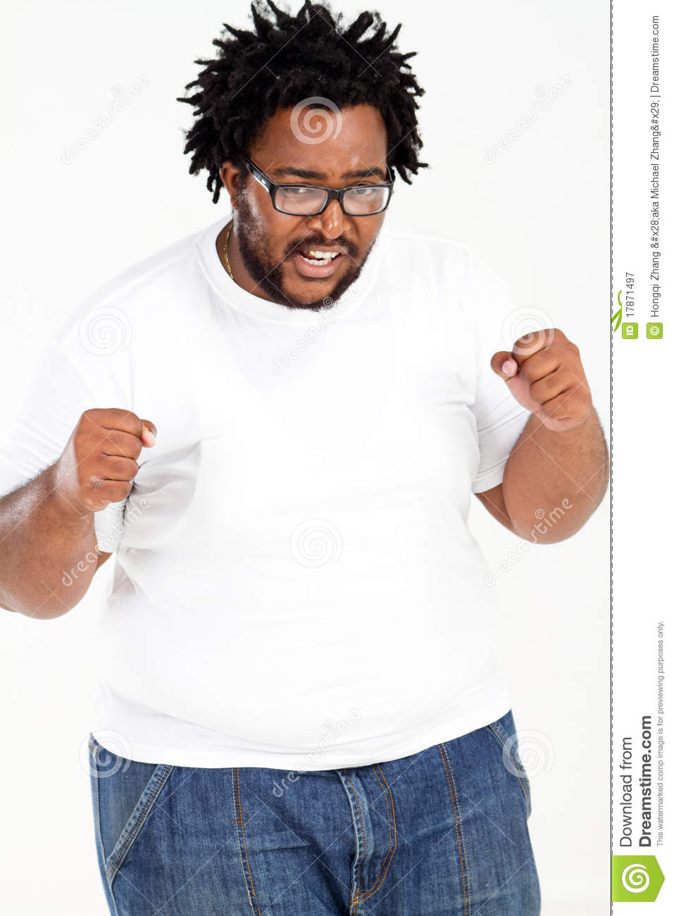 Overweight African Man Stock Image Image Of African 17871497