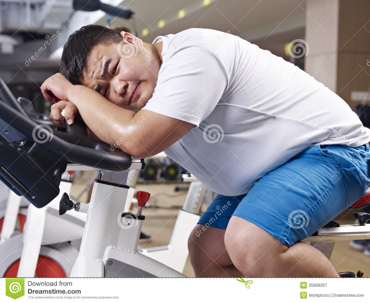 Overweight Man Exercising Royalty Free Stock Photography ...