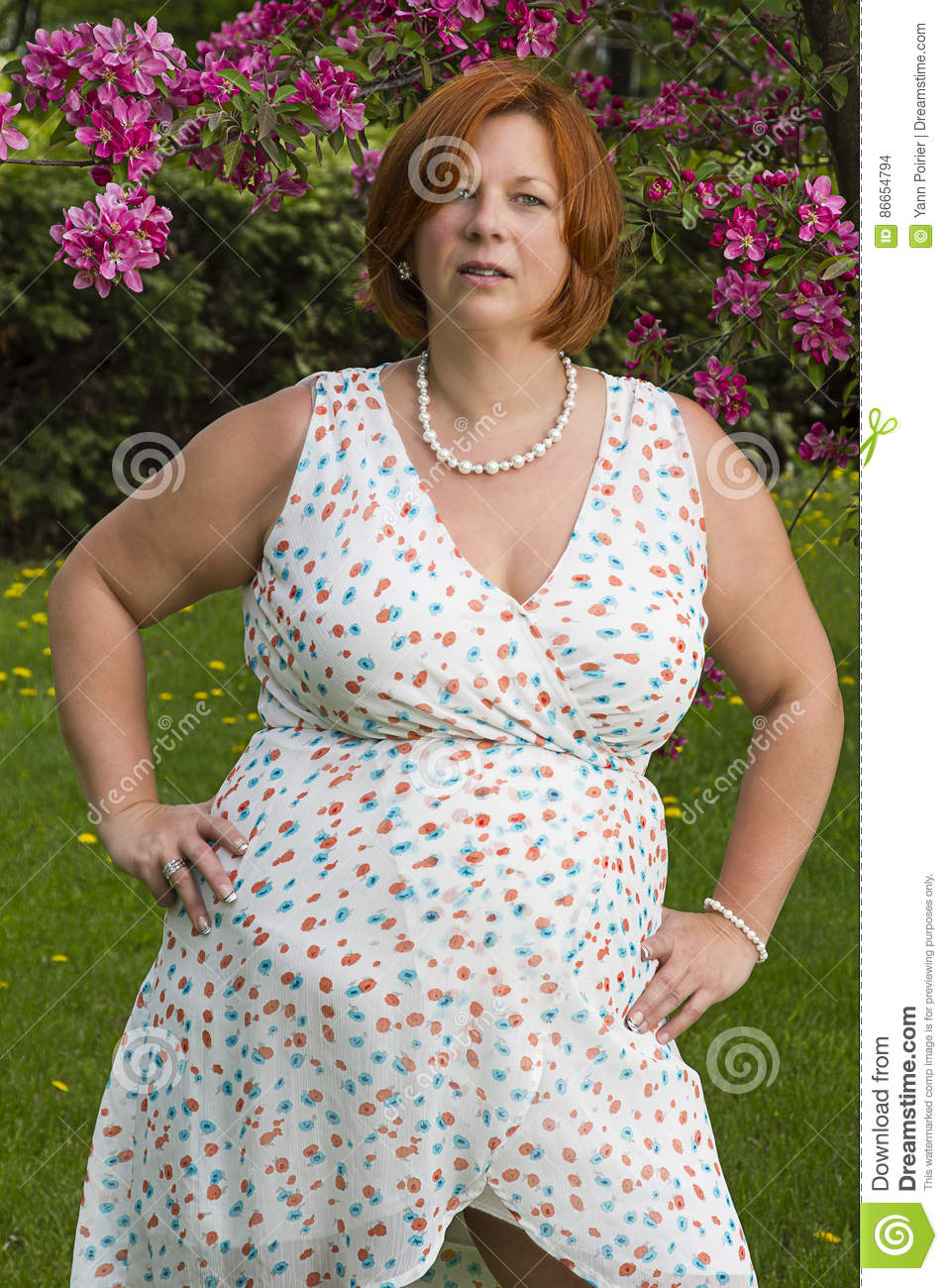 Overweight mature woman stock photo. Image of pretty