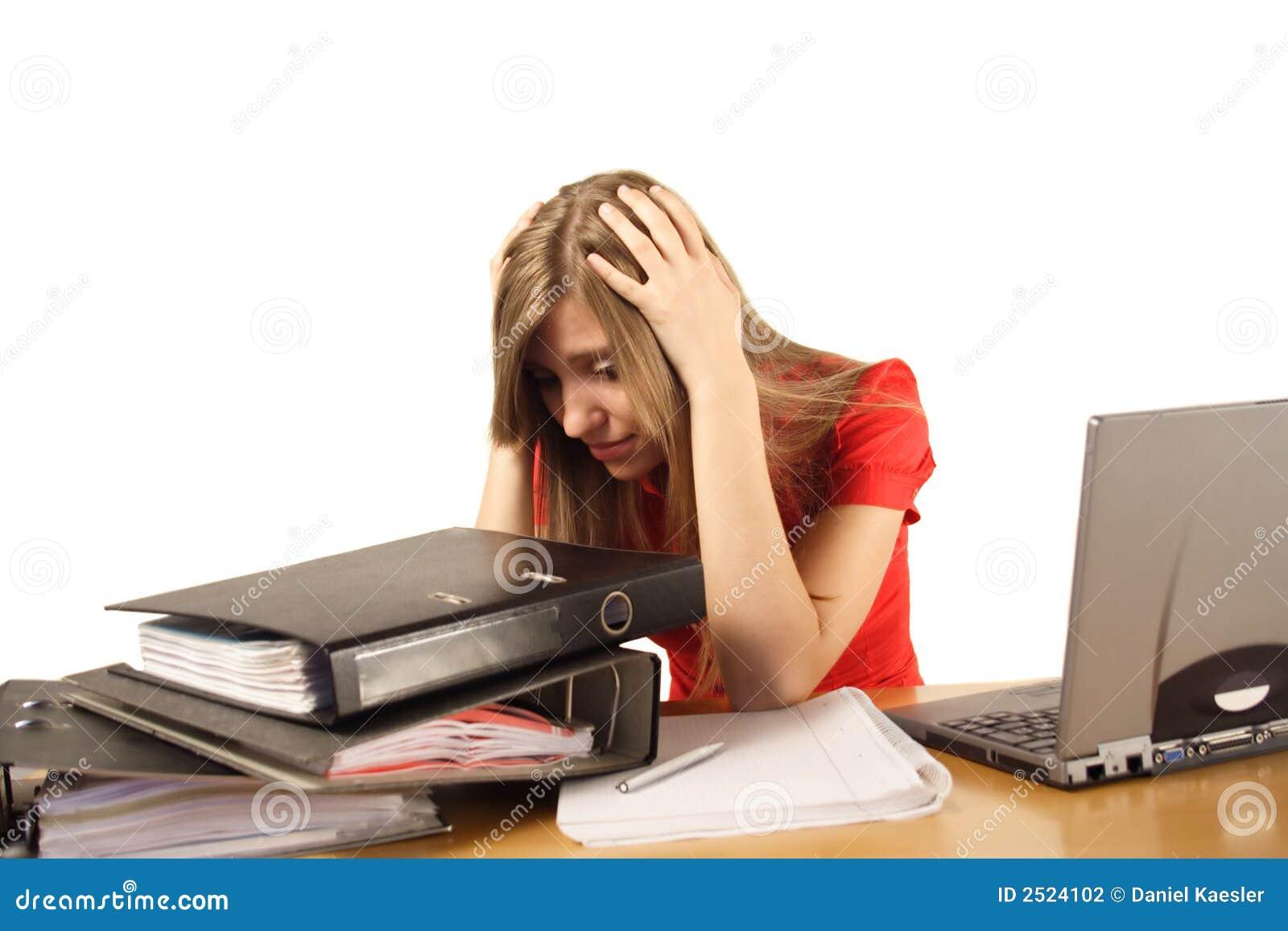 Overwhelmed работа женщины
