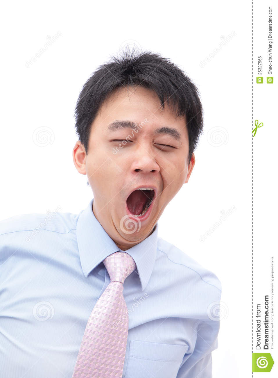Overworked Business Man Yawn With Black Eye Royalty Free ...