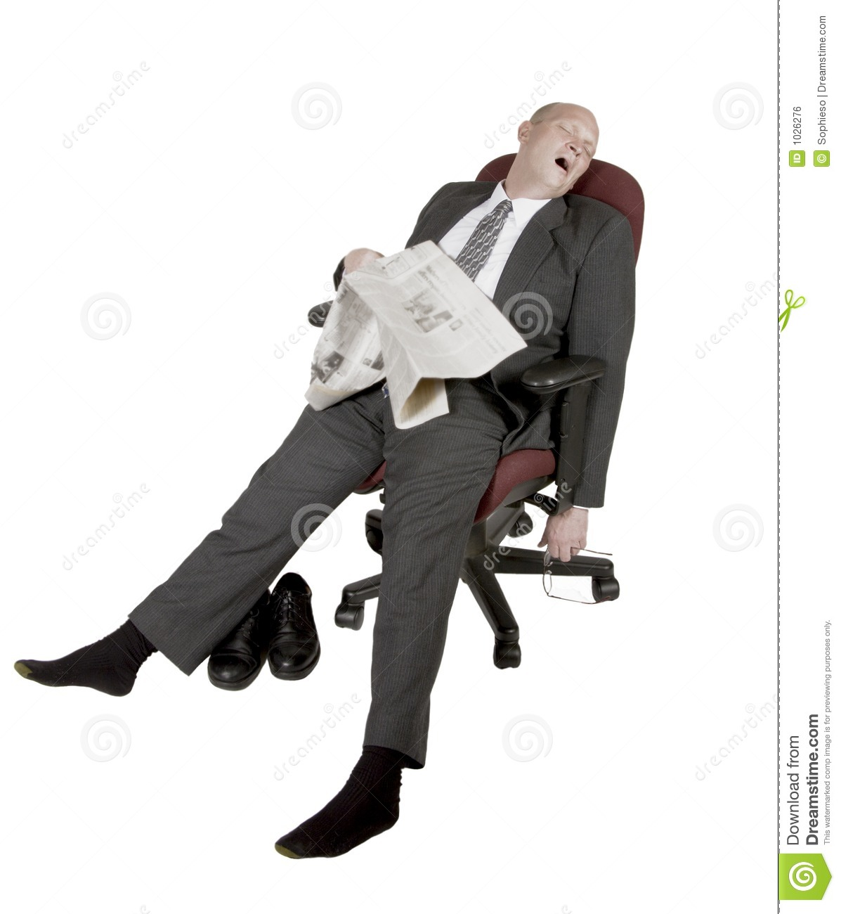 Overworked And Exhausted Businessman