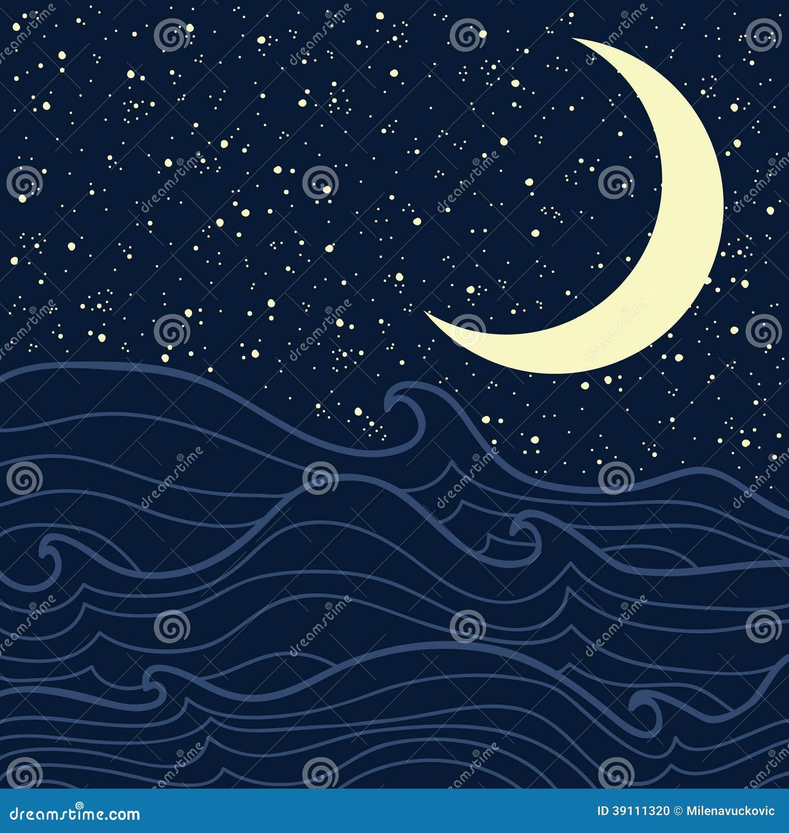 Overzees en sterrige nacht