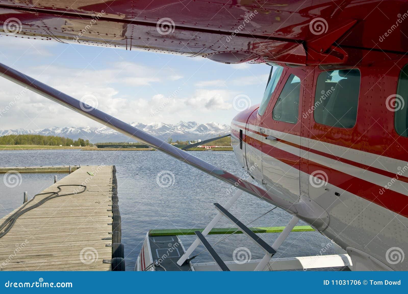 Overzees van de vlotter Vliegtuig