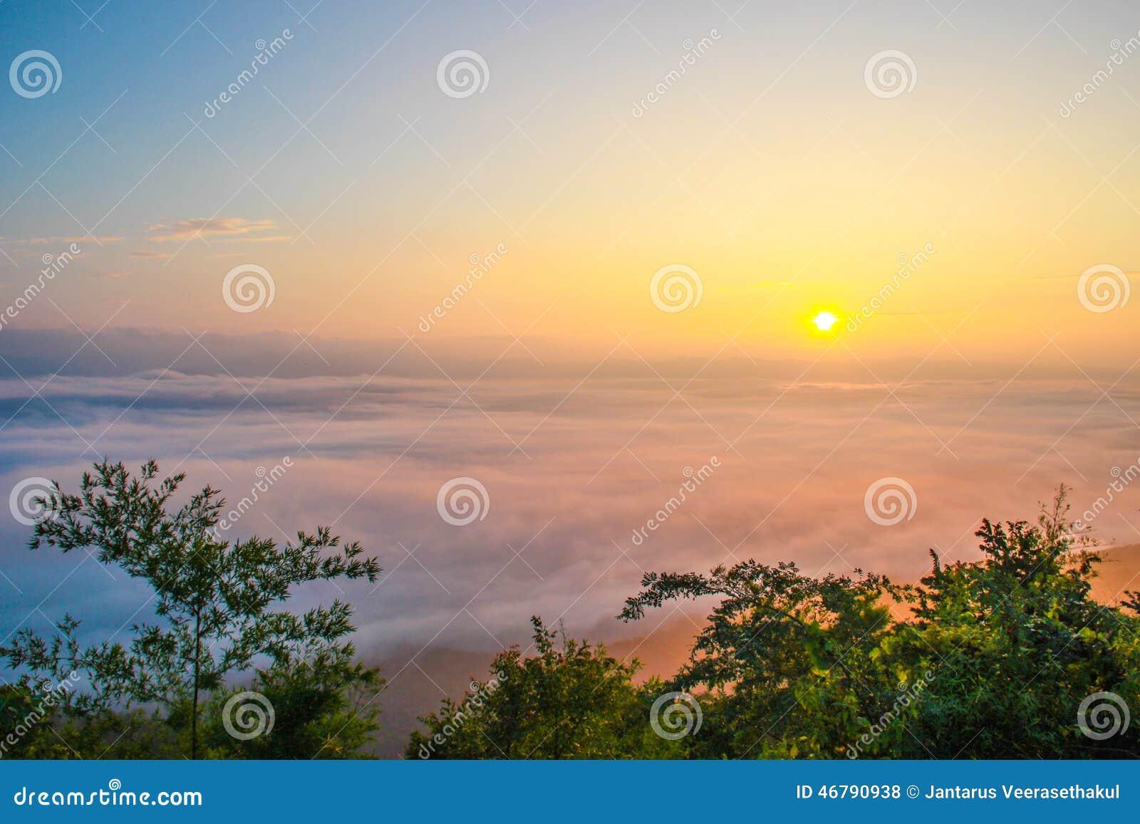 Overzeese mist, nan provincies - nan Thailand