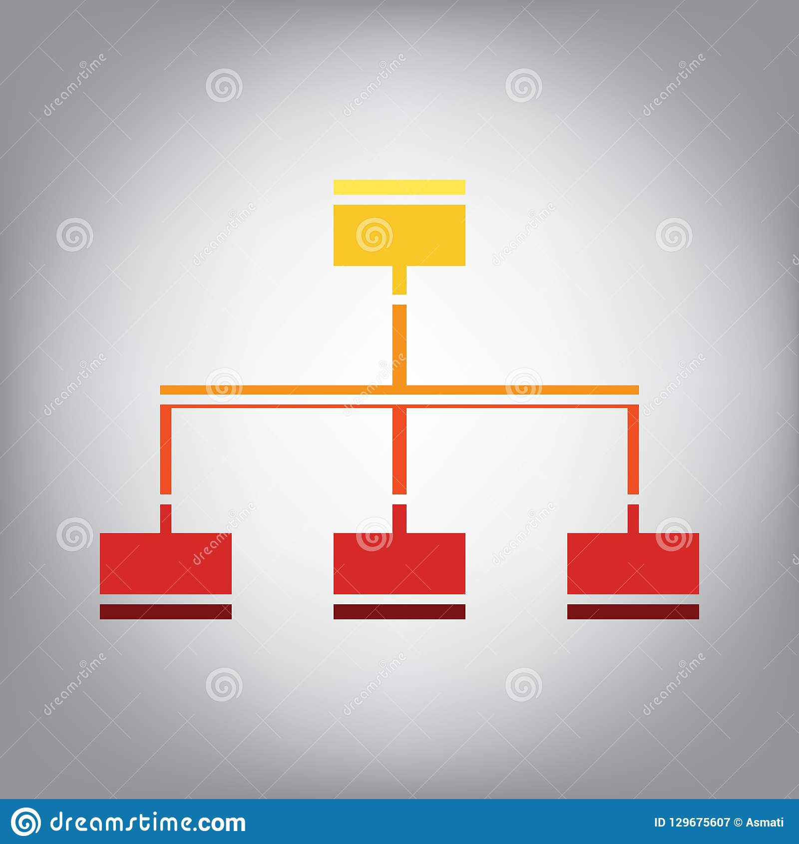 Overzicht van de websiteteken Vector Horizontaal gesneden pictogram met kleuren van