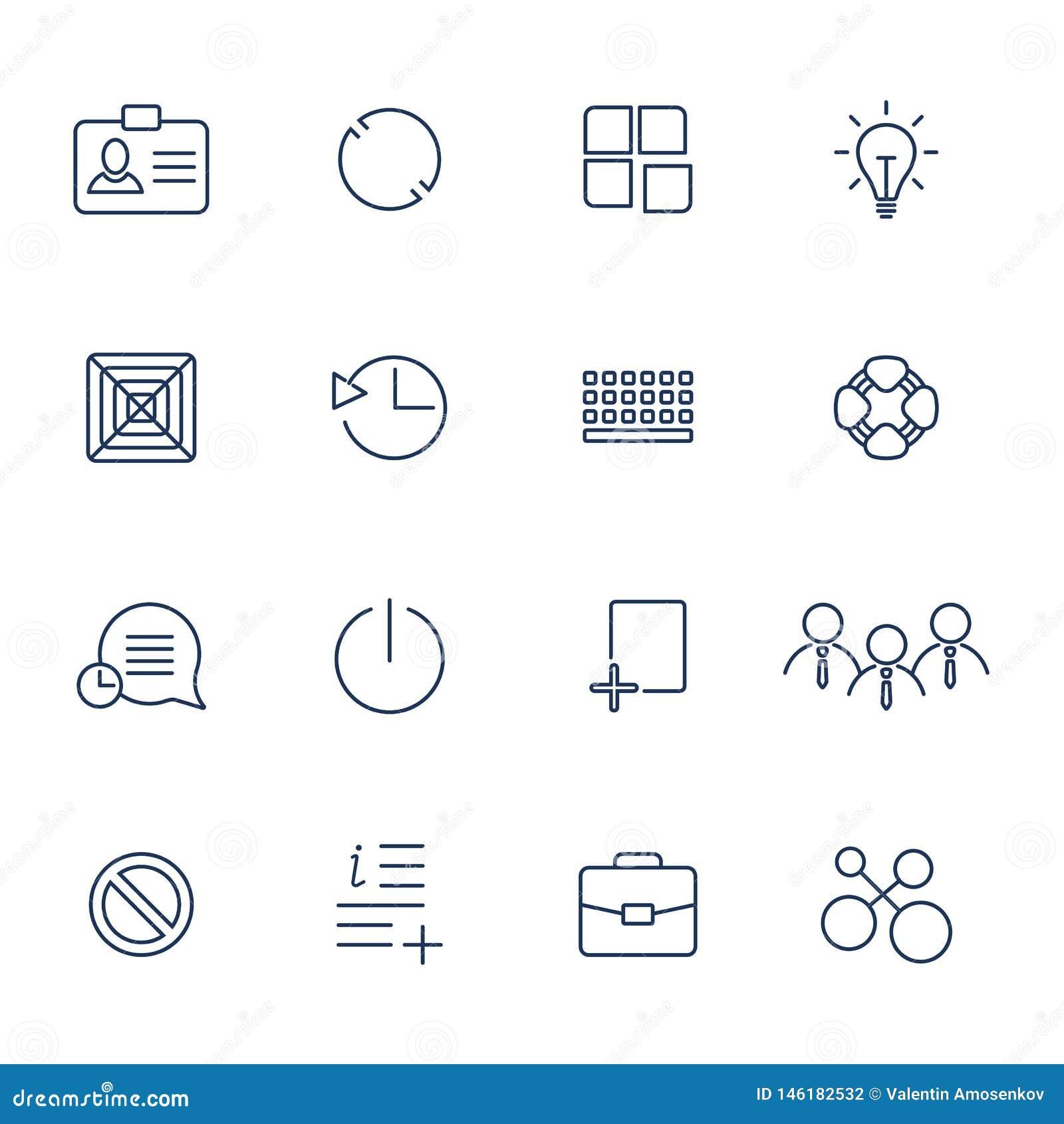 Overzichts vectorpictogrammen voor Web en mobiel