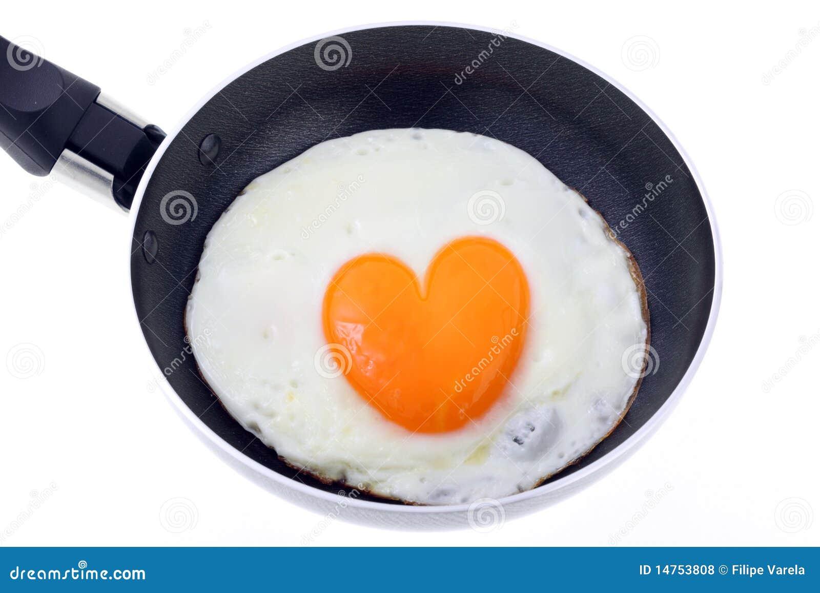 Ovo cozinhado - formulário do coração