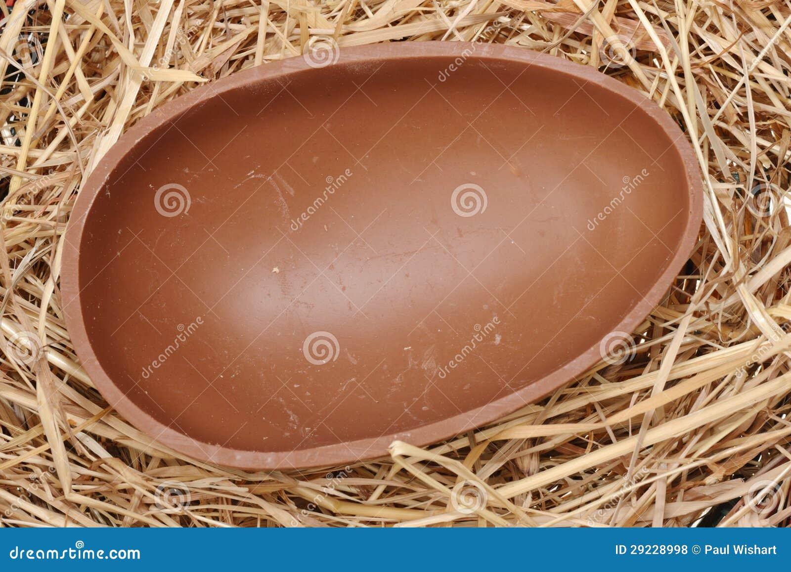 Download Ovo Da Páscoa Shell Do Chocolate Foto de Stock - Imagem de celebration, easter: 29228998