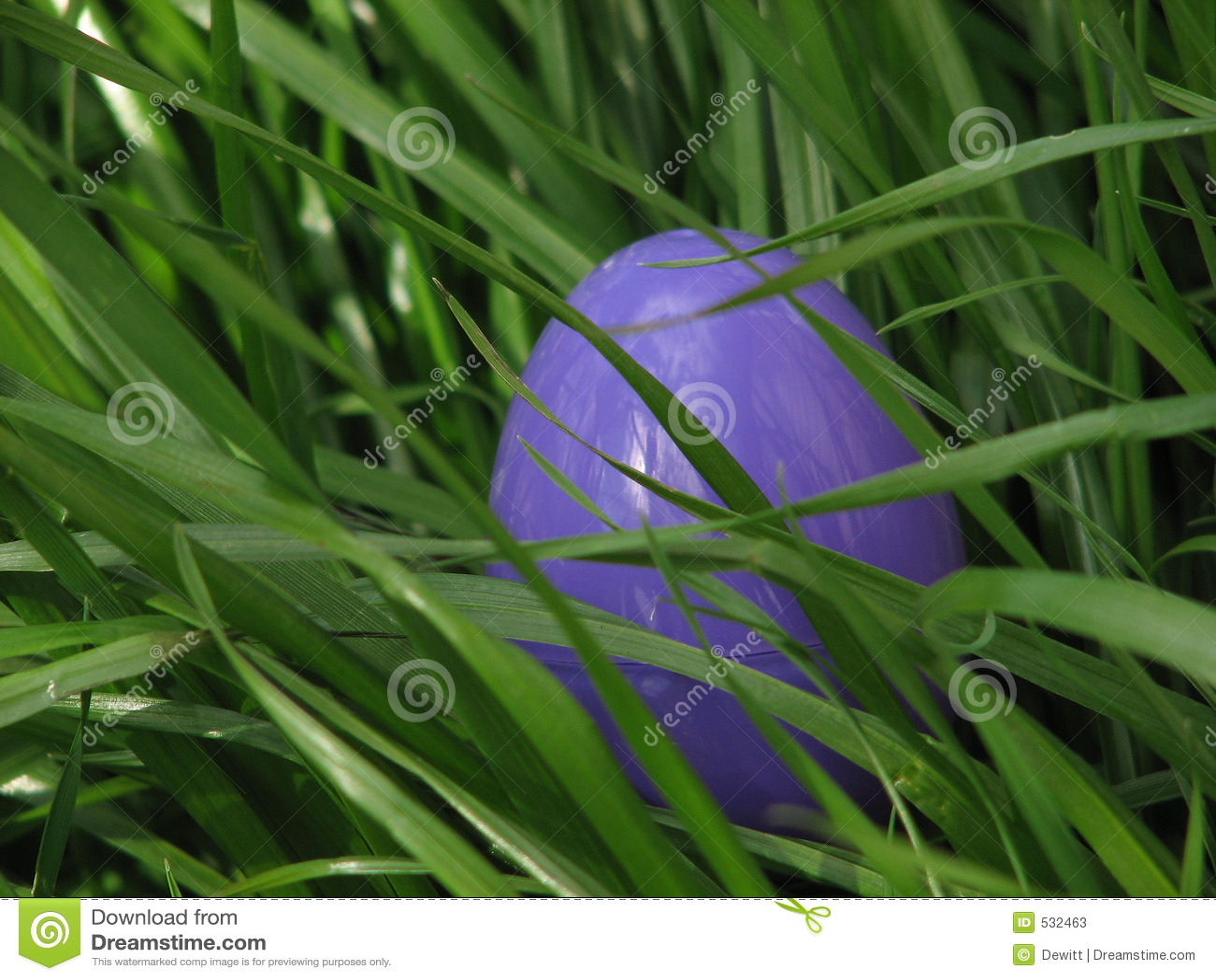 Ovo de Easter na grama