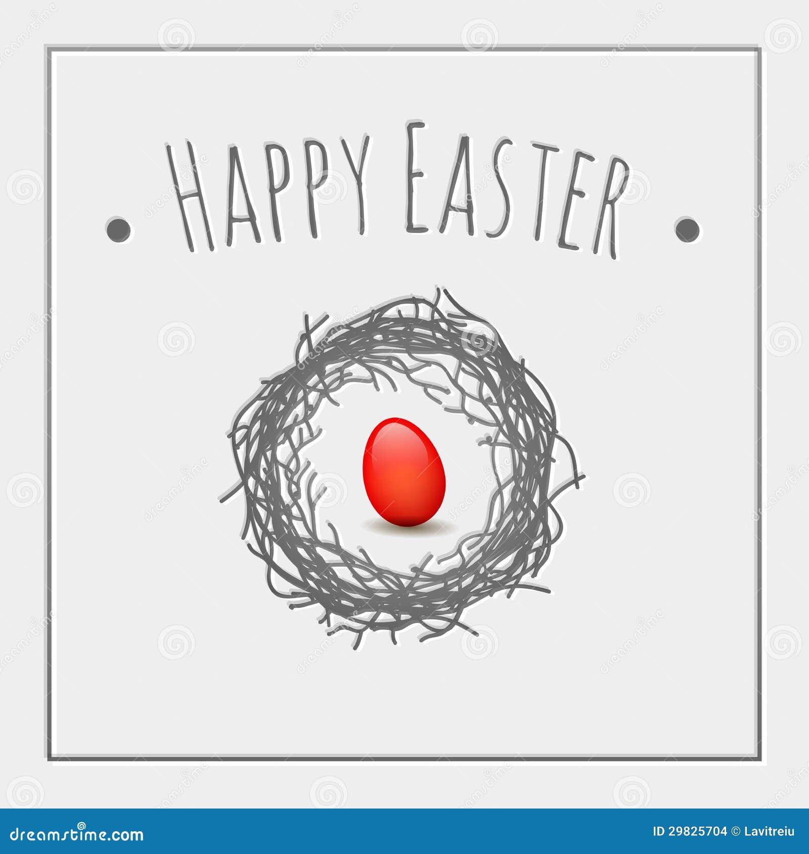 Ovo do vermelho de Easter
