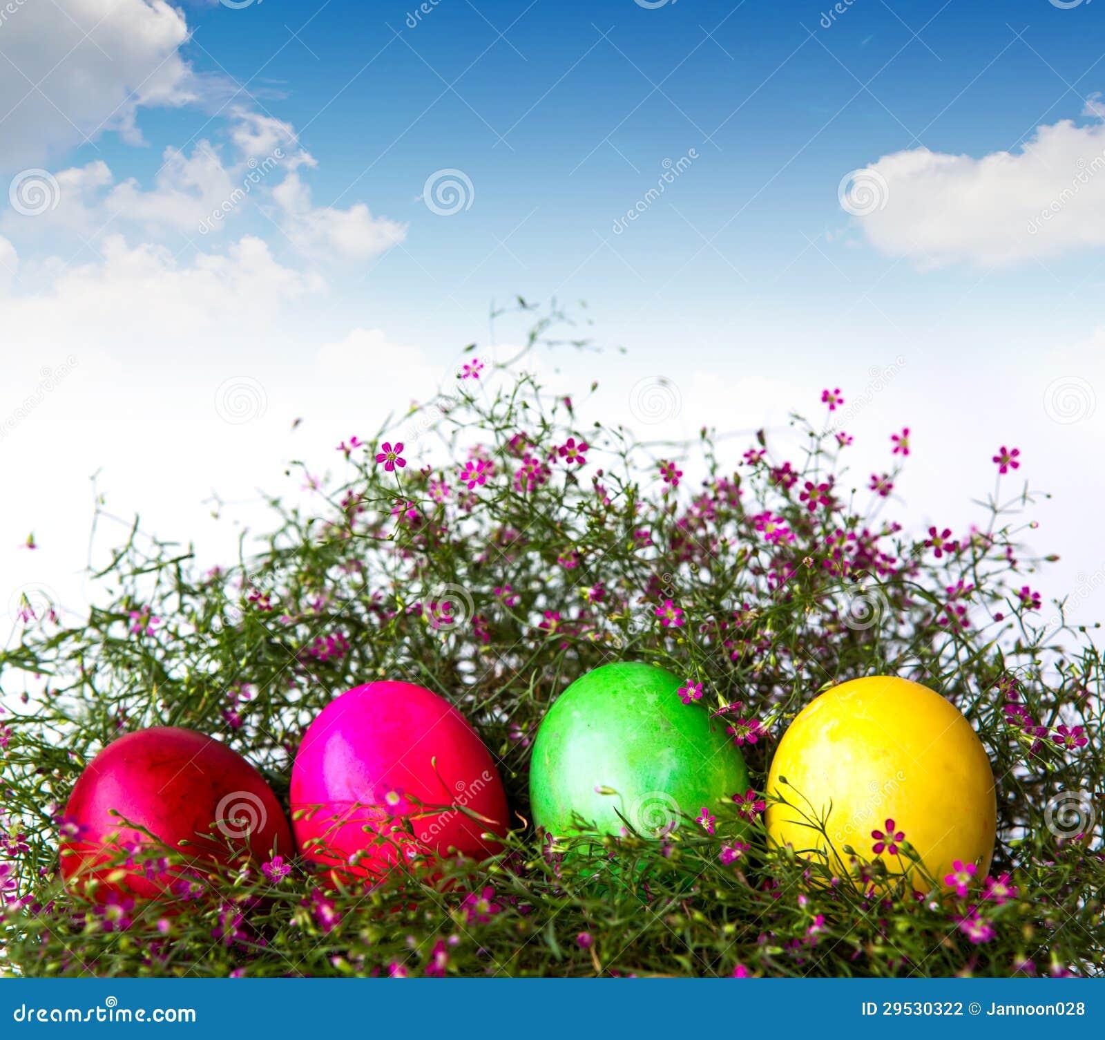 Ovos da páscoa coloridos