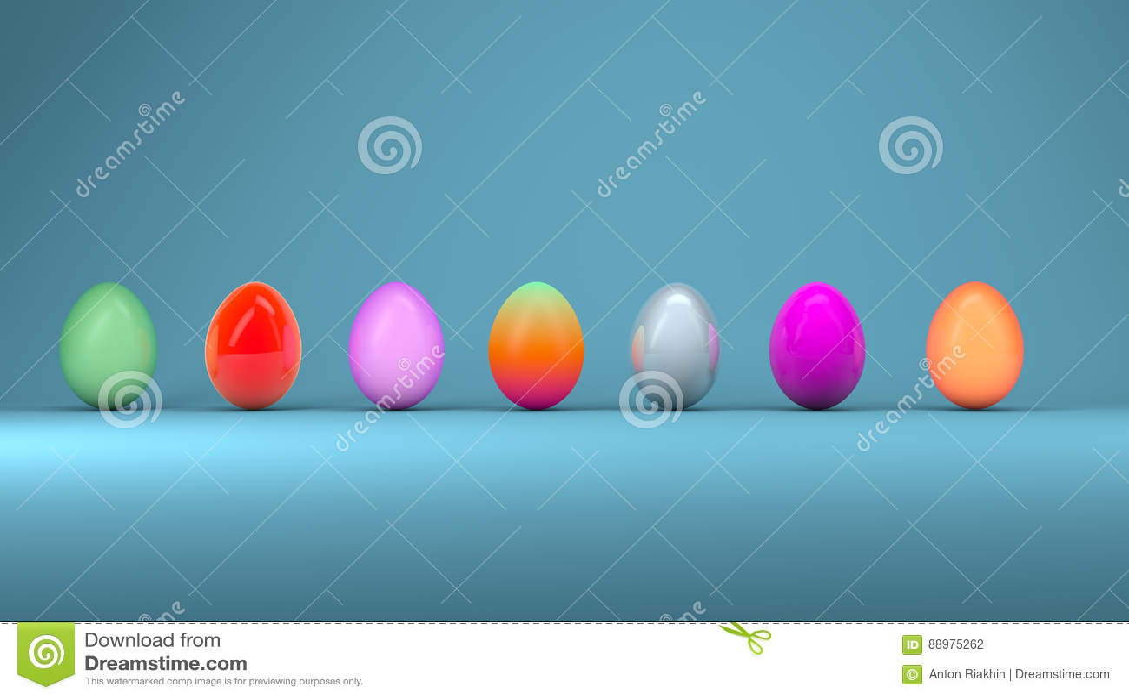 Ovos da páscoa, conceito de projeto na moda, ilustração 3d