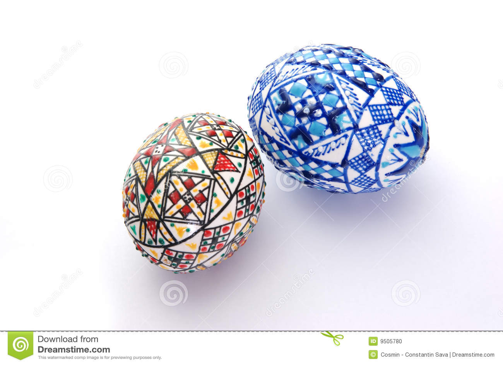 Ovos de easter decorados