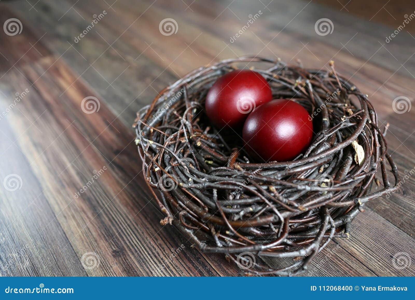 Ovos de Easter no ninho