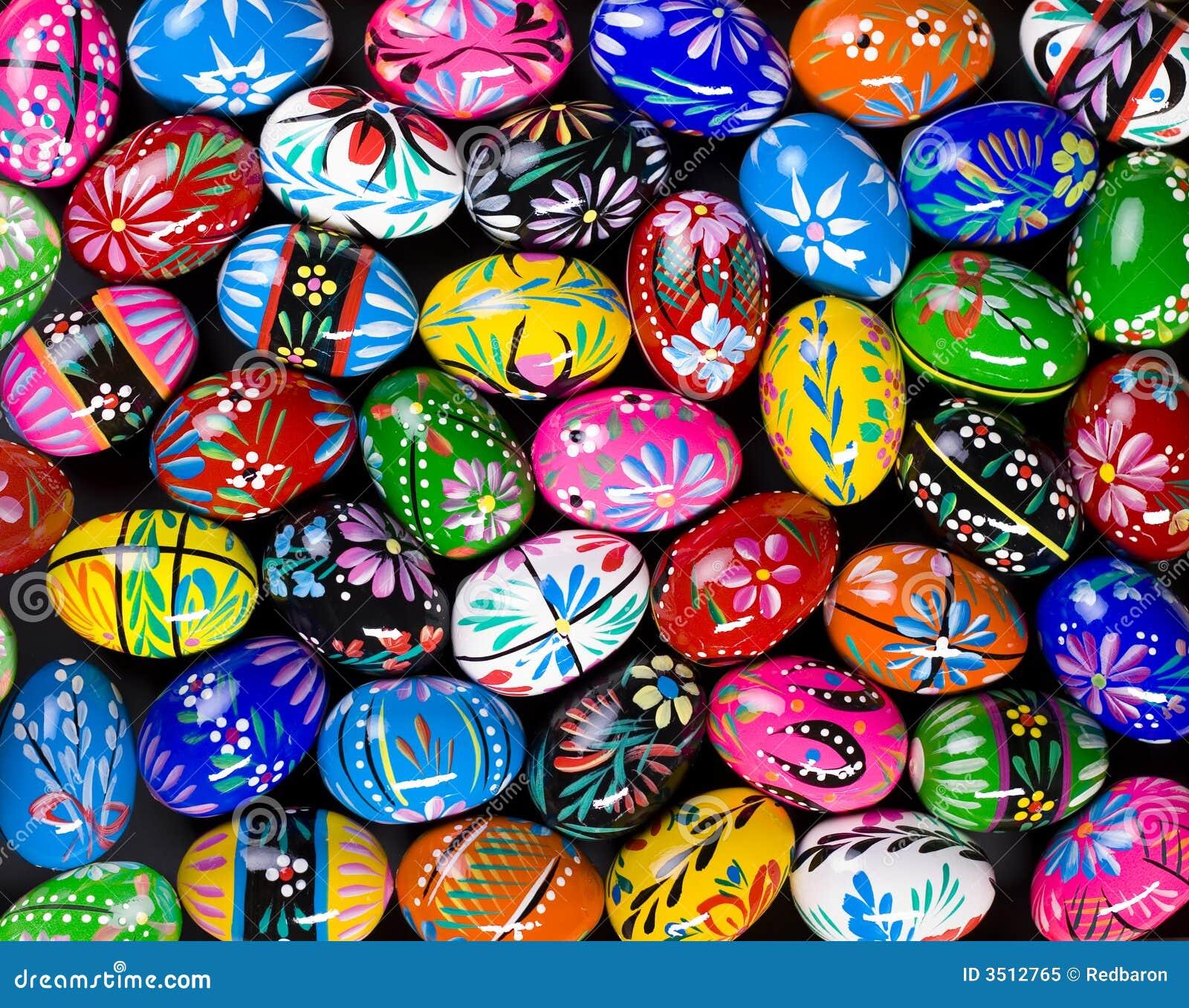 Ovos de Easter pintados